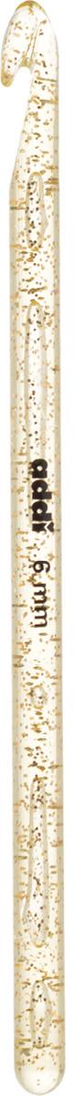 Крючок для вязания Addi, пластиковый, диаметр 6 мм, длина 15 см445-7/6-15Крючок для вязания Addi выполнен из высококачественного пластика с золотистыми частицами. Гладкая поверхность позволяет ему виртуозно скользить внутрь петель и обратно. При вязке не выскальзывает. На изделие нанесены фирменная надпись и размеры в миллиметрах стойкой краской. Крючок предназначен для вязания и плетения из ниток, ручного изготовления полотна. Его применяют как для изготовления одежды целиком, так и отделочных элементов одежды или украшений. Вы сможете вязать для себя и делать подарки друзьям. Работа, сделанная своими руками, долго будет радовать вас и ваших близких.
