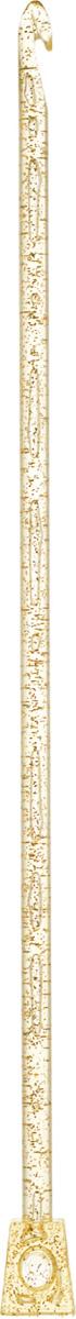 Крючок для вязания Addi Тунисский, диаметр 6 мм, длина 30 см462-7/6-30Крючок Addi Тунисский, выполненный из пластика с золотистыми блестками, идеально подойдет для тунисского вязания. Благодаря этой технике можно получить очень красивые по текстуре, плотные и в то же время мягкие вязаные вещи. Этот крючок длиннее обычного и на конце у него имеется стоппер, который позволяет удерживать петли и не дает им спуститься с крючка. Вязание крючком применяют как для изготовления одежды целиком, так и отделочных элементов одежды или украшений. Вы сможете вязать для себя и делать подарки друзьям. Работа, сделанная своими руками, долго будет радовать вас и ваших близких.