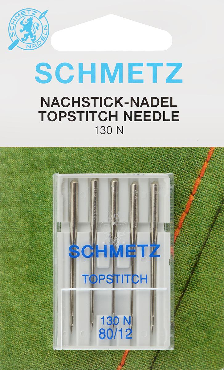 """Иглы для бытовых швейных машин """"Schmetz"""", для декоративных строчек, №80, 5 шт"""