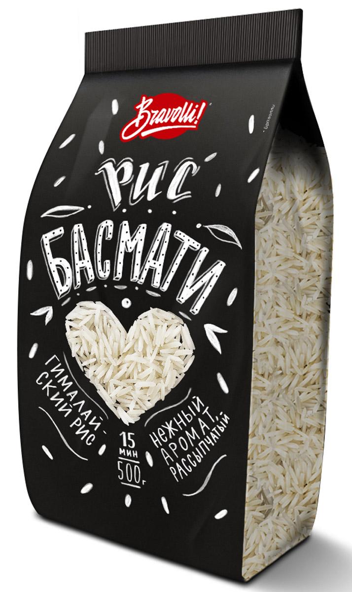 Bravolli Басмати рис, 500 гБР 58-0,5/6Нежный, рассыпчатый, с тонким природным ароматом рис Басмати - отличная альтернатива обычному белому рису в любых блюдах.