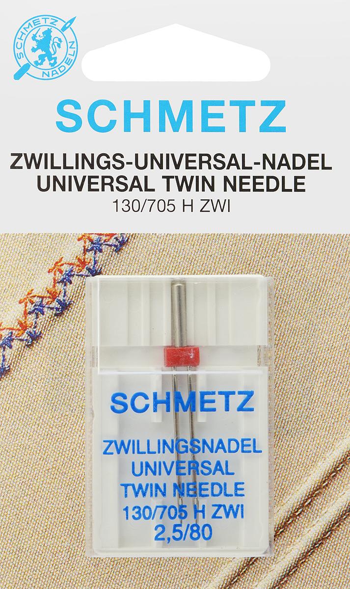 Игла для бытовых швейных машин Schmetz, универсальная, двойная, №80, 2,5 мм70:25.2.SCSУниверсальная двойная игла Schmetz, выполненная из никеля, подходит для бытовых швейных машин всех марок. Она предназначена для декоративной отделки и выполнения защипов на всех тканых материалах, а также для подшивания низа изделий из трикотажа. В комплекте пластиковый футляр для переноски и хранения. Система иглы: 130/705 H ZWI. Номер иглы: 80. Расстояние между иглами: 2,5 мм.