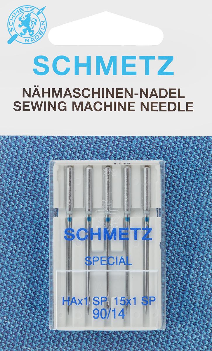 Иглы для бытовых швейных машин Schmetz, для трикотажа, №90, 5 шт22:82.FB1.VDSСпециальные иглы Schmetz, выполненные из хрома, подходят для бытовых швейных машин всех марок. В набор входят иглы, которые идеально подходят для всех трикотажных материалов. Каждая игла имеет цветовой код. В комплекте пластиковый футляр для переноски и хранения. Система игл: HAx1 SP. Номера игл: 90/14.