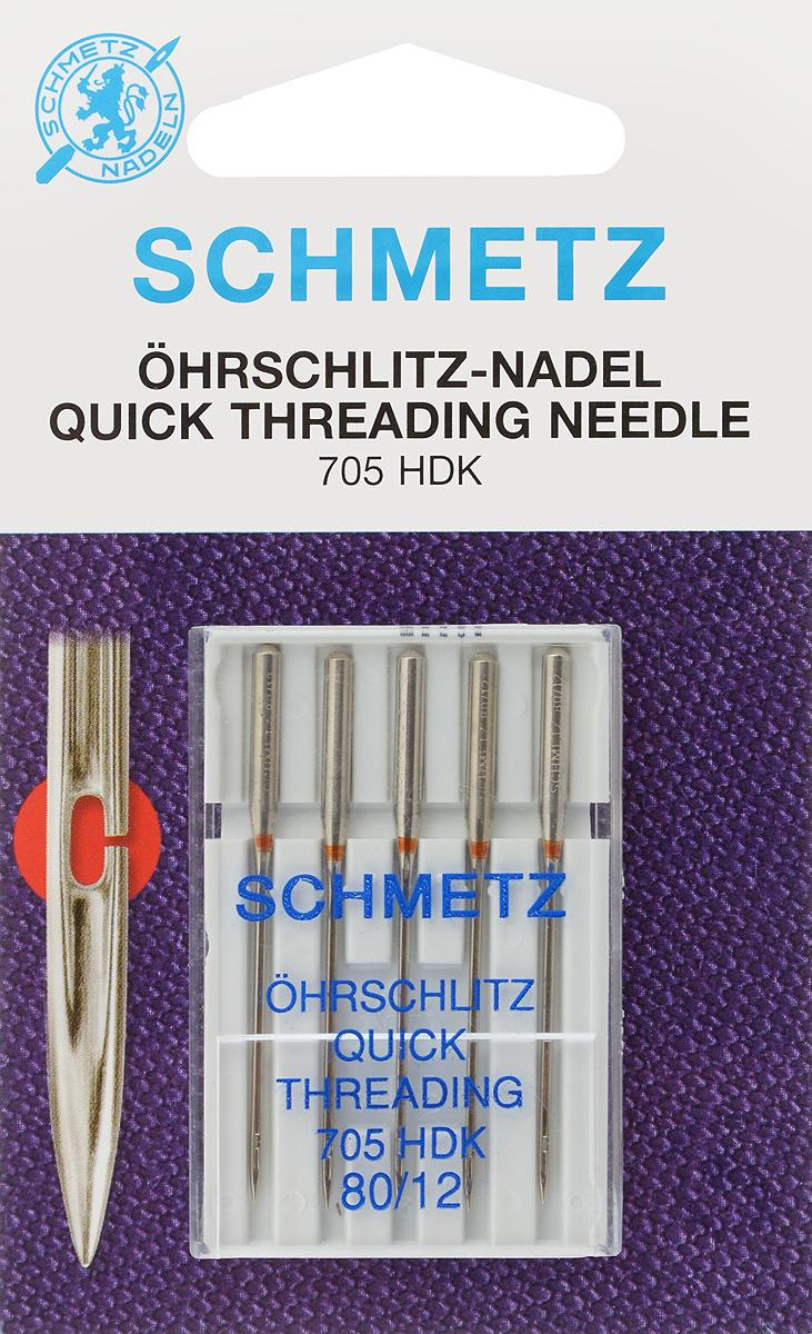 Иглы для бытовых швейных машин Schmetz, универсальные, легковдеваемые, №80, 5 шт21:37.2.VCSУниверсальные иглы Schmetz, выполненные из никеля, подходят для бытовых швейных машин всех марок. В набор входят универсальные легковдеваемые иглы, которые идеально подходят для всех тканых материалов. Иглы имеют небольшой закругленный кончик, что делает их универсальными в использовании с различными видами тканей. Каждая игла имеет цветовой код. В комплекте пластиковый футляр для переноски и хранения. Система игл: 705 HDK. Номера игл: 80/12.