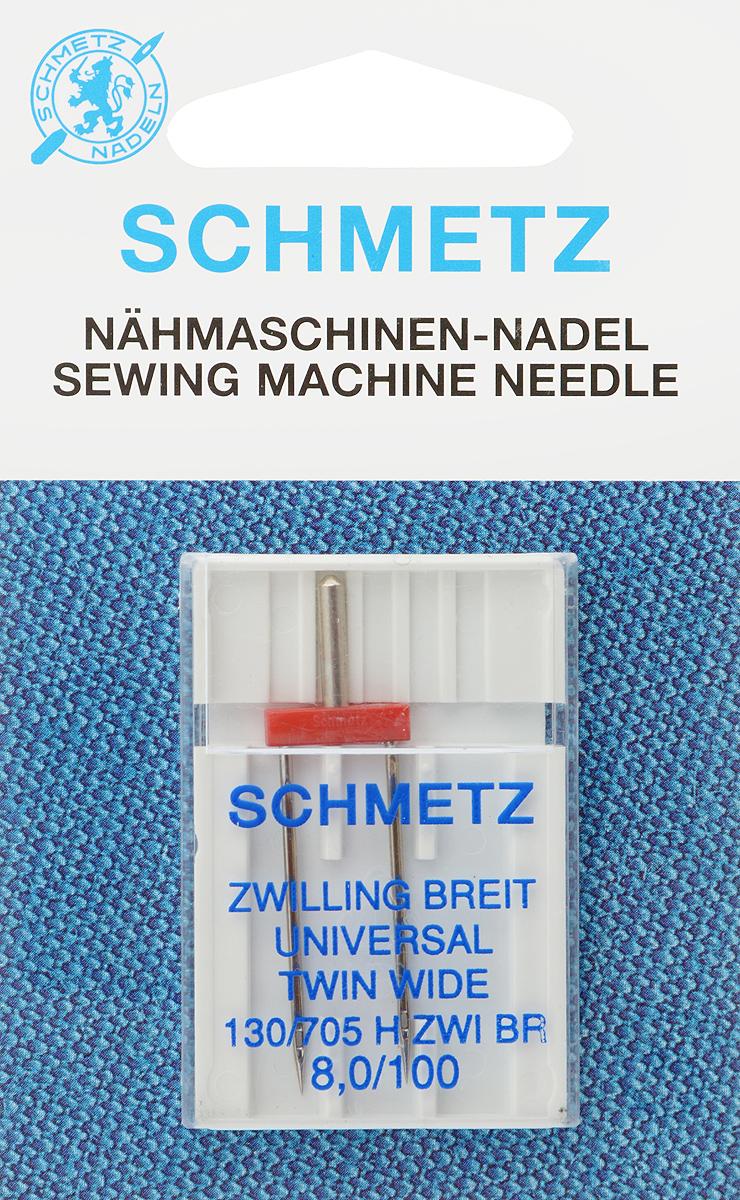 Игла для бытовых швейных машин Schmetz, универсальная, двойная, №100, 8 мм77:80.2.SESУниверсальная двойная игла Schmetz, выполненная из никеля, подходит для бытовых швейных машин всех марок. Она предназначена для декоративной отделки и выполнения защипов на всех тканых материалах, а также для подшивания низа изделий из трикотажа. В комплекте пластиковый футляр для переноски и хранения. Система иглы: 130/705 H ZWI BR. Номер иглы: 100. Расстояние между иглами: 8,0 мм.