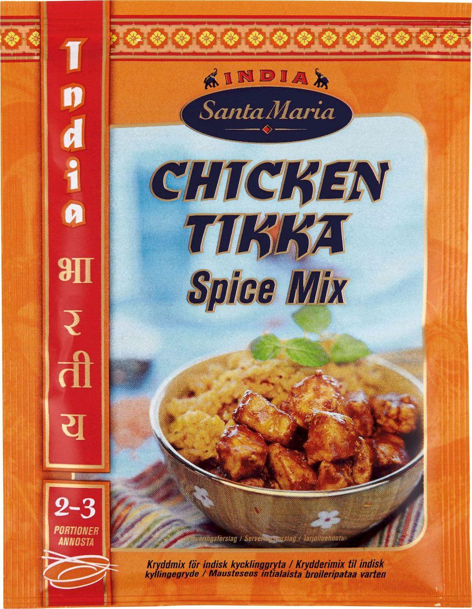 Santa Maria Приправа Тикка для куриных блюд, 35 г3508Приправа Santa Maria Тикка идеально подходит к мясу, курице, добавляя им аромат перца чили, кумина, кориандра, чеснока и имбиря.