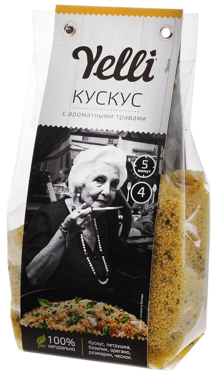 Yelli кускус с ароматными травами, 250 гЕЛ 117/7Кускус отлично впитывает ароматы специй и других ингредиентов и лучше всего подходит для приготовления пряных блюд. Из стран Северной Африки в Средние века кускус попал в Европу, где его сразу оценили передовые шеф-повара того времени. Кускус с ароматными травами – оригинальное пряное блюдо, не требующее долгого приготовления. Из него легко приготовить быстрый гарнир к мясу, рыбе, овощам или же самостоятельное блюдо.