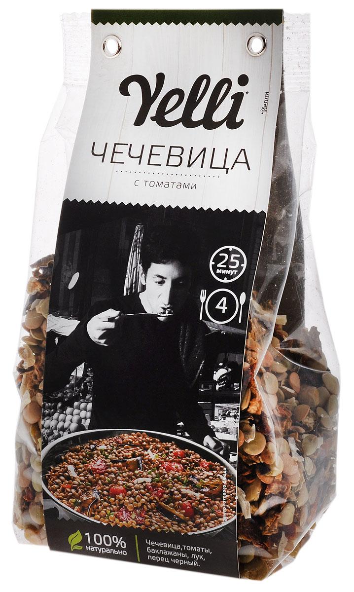Yelli чечевица с томатами, 250 гЕЛ 157/7Чечевица и томаты – идеальное сочетание вкусов, классическое для итальянской кухни. Чечевицу с томатами можно приготовить как самостоятельное блюдо, оно будет сытным и питательным, или подать на гарнир к мясу, например, к итальянским колбаскам, приготовленным на гриле, или подсушенному на сковороде итальянскому бекону – панчетте.