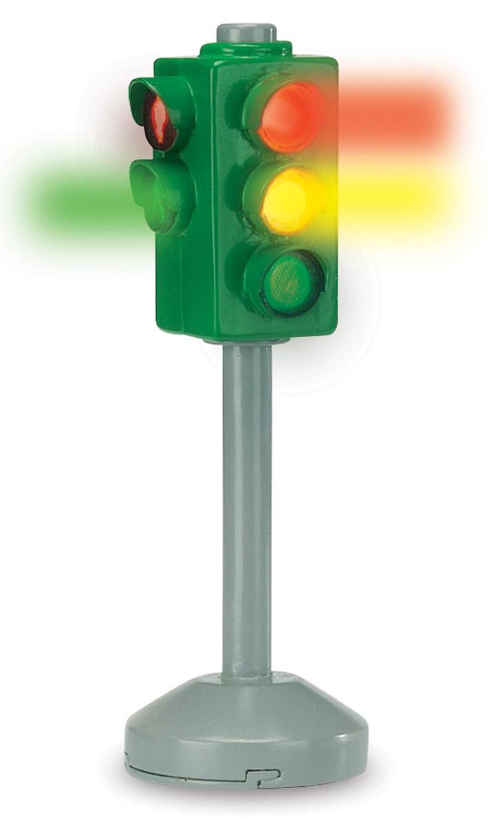 Dickie Toys Игровой набор Светофор City Light3341000Игровой набор Dickie Toys Светофор City Light приятно порадует каждого ребенка. Набор состоит из светофора и двух дорожных знаков. При нажатии на кнопку в верхней части светофора зажигается тот или иной свет одновременно для машин и для пешеходов. Такой набор дополнит и разнообразит игру с любой машинкой или фигуркой. Ваш ребенок с радостью будет играть с этим удивительным набором, придумывая различные захватывающие сюжеты. Порадуйте своего малыша такой интересной игрушкой! Для работы игрушки необходимы 2 батарейки напряжением 1,5V типа LR44 (товар комплектуется демонстрационными).