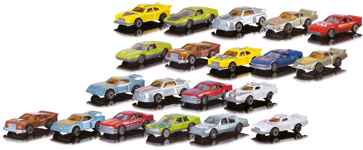 Dickie Toys Набор машинок 20 шт3315412Набор машинок Dickie Toys понравится любому мальчику. В набор входит 20 спортивных и гоночных автомобилей. Каждая машинка имеет индивидуальную форму и раскраску. Машинки изготовлены из качественных и безопасных материалов. Имея такой автопарк, можно устраивать соревнования и гонки с друзьями. Благодаря разнообразию моделей и цветов скучать будет некогда.