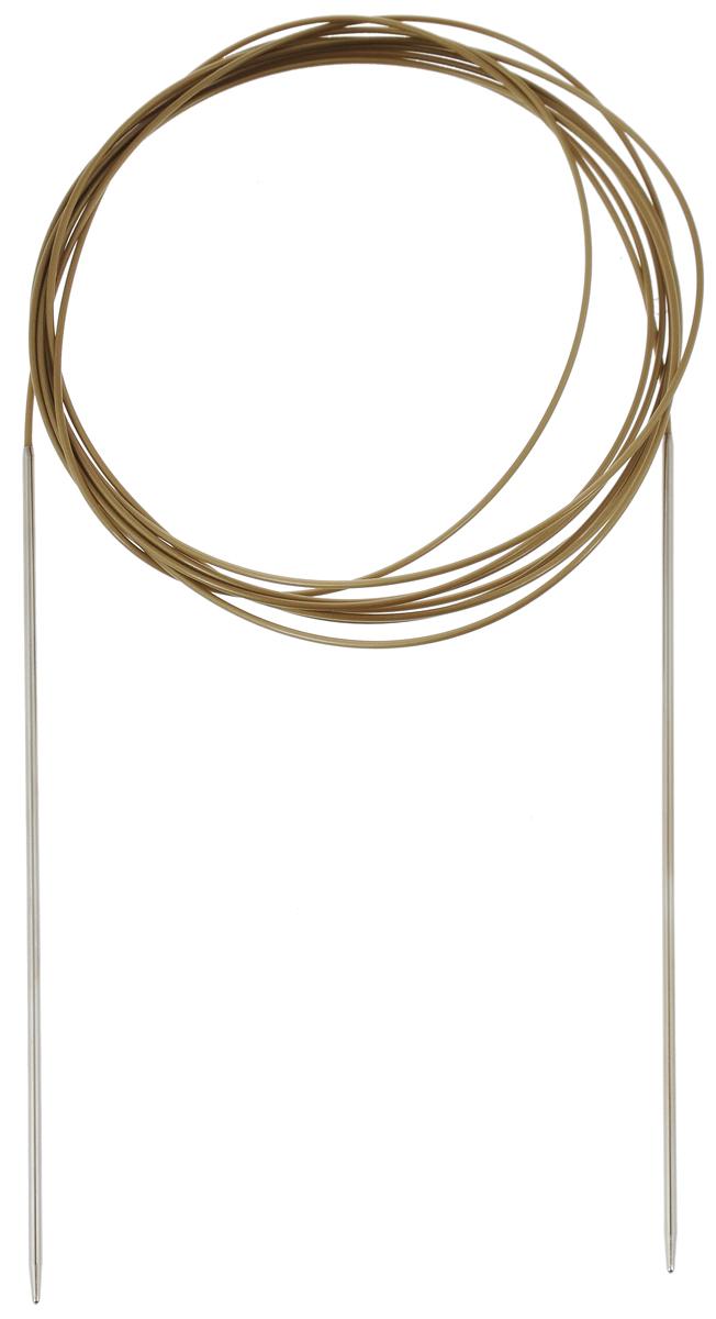 Спицы Addi, круговые, супергладкие, диаметр 2 мм, длина 300 см108-7/2-300Спицы Addi изготовлены из латуни с никелированной поверхностью. Полые, очень легкие спицы с удлиненным кончиком скреплены мягким и гибким нейлоновым шнуром. Гладкое никелированное покрытие и тонкие переходы от спицы к шнуру позволяют петлям легче скользить. Малый вес изделия убережет ваши руки от усталости при вязании. Вы сможете вязать для себя, делать подарки друзьям. Работа, сделанная своими руками, долго будет радовать вас и ваших близких.