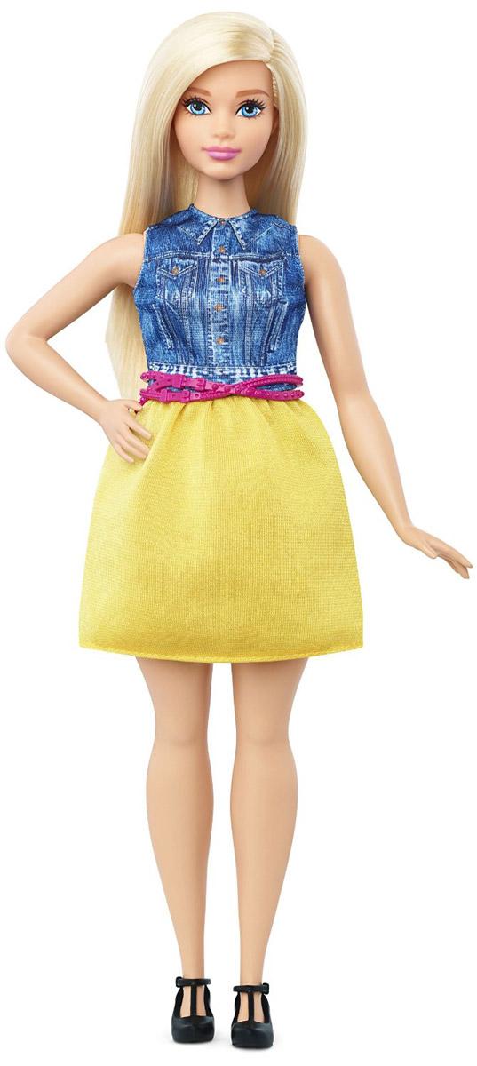 Barbie Кукла Fashionistas цвет наряда синий желтыйDGY54_DMF24Кукла Barbie Fashionistas обязательно заинтересует вашу малышку. Очаровательная кукла с длинными светлыми волосами одета в легкую маечку и юбку желтого цвета, на ногах куколки - черные туфли. Образ куклы дополняет розовый пояс. Куклы Barbie Fashionistas - это множество образов и море удовольствия! Станьте модельером и подбирайте новые дизайнерские решения! У кукол различный цвет волос, глаз и кожи, разные прически, разная форма лица. Им подходит любой стиль: спортивные маечки и современная высокая мода, популярные платья в горошек и блузки с принтами, богемный шик и рокерские наряды, босоножки на каблуках, балетки, кроссовки, милые ботиночки. Барби любят украшения: бусы, очки, сережки. Они могут носить челки и проборы, кудряшки и прямые волнистые волосы, быть брюнетками, блондинками и рыжими, краситься в абсолютно черный и в современный пурпурный цвет. Соберите их всех!