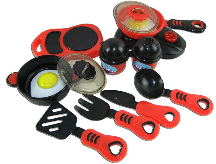 ABtoys Набор посуды для кухни с продуктами PT-00330