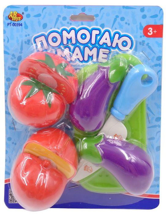 ABtoys ОвощиPT-00394Помогаю маме. Фрукты, 8 предметов (разделочная доска, нож, помидор (2 части), баклажан (2 части), перец (2 части). Размер упаковки (д/ш/в): 17x20x5 см. Размер транспортной упаковки (д/ш/в): 67x36x82 см. Усл д/перепак: 12 000 шт.