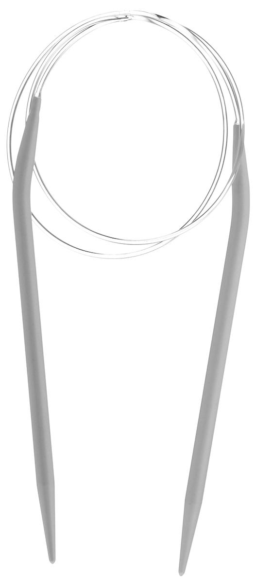 Спицы Pony, металлические, круговые, диаметр 5,5 мм, длина 80 см, 2 шт50212Спицы для вязания Pony, изготовленные из алюминия, имеют закругленные кончики и скреплены гибким пластиковым шнуром. Они прочные, легкие, гладкие, удобные в использовании. Круговые спицы наиболее удобны для выполнения деталей и изделий, не имеющих швов. Круговыми спицами вяжут бейки горловины. Вы сможете вязать для себя, делать подарки друзьям. Рукоделие всегда считалось изысканным, благородным делом. Работа, сделанная своими руками, долго будет радовать вас и ваших близких.