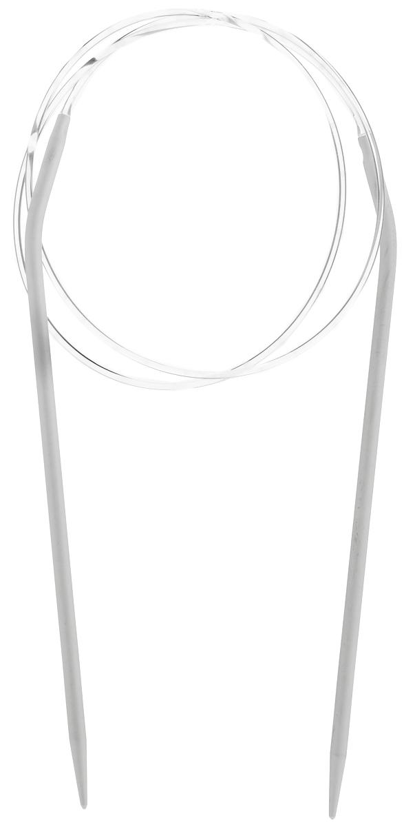 Спицы Pony, металлические, круговые, диаметр 3,5 мм, длина 80 см, 2 шт50207Спицы для вязания Pony, изготовленные из алюминия, имеют закругленные кончики и скреплены гибким пластиковым шнуром. Они прочные, легкие, гладкие, удобные в использовании. Круговые спицы наиболее удобны для выполнения деталей и изделий, не имеющих швов. Круговыми спицами вяжут бейки горловины. Вы сможете вязать для себя, делать подарки друзьям. Рукоделие всегда считалось изысканным, благородным делом. Работа, сделанная своими руками, долго будет радовать вас и ваших близких.