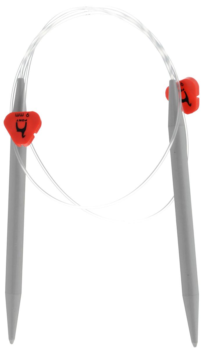 Спицы Pony, пластиковые, диаметр 9 мм, длина 60 см, 2 шт65268Спицы для вязания Pony, изготовленные из пластика, имеют закругленные кончики и скреплены гибким пластиковым шнуром. Они прочные, легкие, гладкие, удобные в использовании. Круговые спицы наиболее удобны для выполнения деталей и изделий, не имеющих швов. Круговыми спицами вяжут бейки горловины. Вы сможете вязать для себя, делать подарки друзьям. Рукоделие всегда считалось изысканным, благородным делом. Работа, сделанная своими руками, долго будет радовать вас и ваших близких.