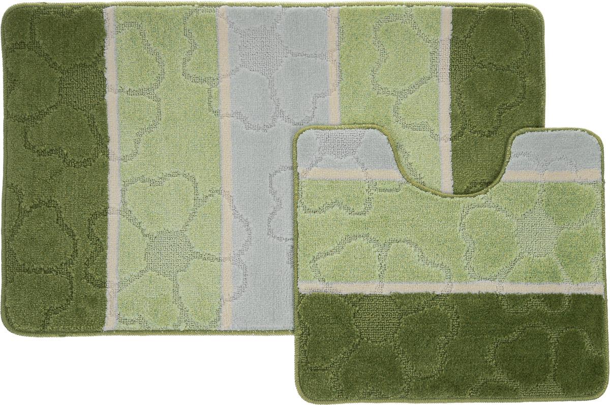 Набор ковриков для ванной Arya Multi 5011, цвет: зеленый, фисташковый, молочный, 2 штTR1000217Зеленый, ФисташковыйНеобыкновенные коврики для ванной Arya Multi 5011 обладают эффектным дизайном, мягким и легким в уходе ворсом, нежным естественным оттенком, а также насыщенным цветом. Набор состоит из двух ковриков, выполненных из полиэстера. Верхняя часть из ворса 3 мм. Коврики украшены слегка выбитым рисунком на ворсе, который придаст еще большей элегантности дизайну ванной комнаты. Особенности изделий: С обратной стороны коврики имеют противоскользящее латексное покрытие. Края ковриков обработаны. Коврики не требовательны в уходе, если они чрезмерно не пачкаются и не загрязняются. В зависимости от интенсивности использования достаточно раз в месяц или в три месяца привести их в порядок. Коврики легко сворачиваются или складываются и помещаются в емкость для стирки. Данные коврики легко выдержат машинную стирку на бережном цикле при 30°С. Хорошо впитывают влагу, не пропускают ее на пол, быстро сохнут. Коврик - это необходимый предмет, без которого...