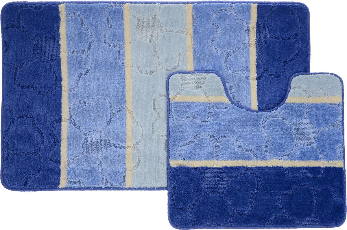 Набор ковриков для ванной Arya Multi 5011, цвет: синий, голубой, молочный, 2 штTR1000217Royal Синий, ГолубойНеобыкновенные коврики для ванной Arya Multi 5011 обладают эффектным дизайном, мягким и легким в уходе ворсом, нежным естественным оттенком, а также насыщенным цветом. Набор состоит из двух ковриков, выполненных из полиэстера. Верхняя часть из ворса 3 мм. Коврики украшены слегка выбитым рисунком на ворсе, который придаст еще большей элегантности дизайну ванной комнаты. Особенности изделий: С обратной стороны коврики имеют противоскользящее латексное покрытие. Края ковриков обработаны. Коврики не требовательны в уходе, если они чрезмерно не пачкаются и не загрязняются. В зависимости от интенсивности использования достаточно раз в месяц или в три месяца привести их в порядок. Коврики легко сворачиваются или складываются и помещаются в емкость для стирки. Данные коврики легко выдержат машинную стирку на бережном цикле при 30°С. Хорошо впитывают влагу, не пропускают ее на пол, быстро сохнут. Коврик - это необходимый предмет, без...