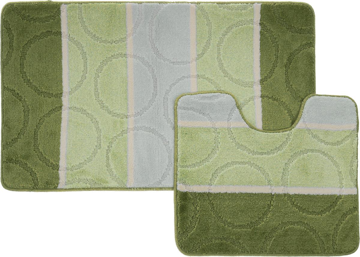 Набор ковриков для ванной Arya Multi 5006, цвет: зеленый, фисташковый, молочный, 2 штTR1000216Зеленый, ФисташковыйНеобыкновенные коврики для ванной Arya Multi 5006 обладают эффектным дизайном, мягким и легким в уходе ворсом, нежным естественным оттенком, а также насыщенным цветом. Набор состоит из двух ковриков, выполненных из полиэстера. Верхняя часть из ворса 3 мм. Коврики украшены слегка выбитым рисунком на ворсе, который придаст еще большей элегантности дизайну ванной комнаты. Особенности изделий: С обратной стороны коврики имеют противоскользящее латексное покрытие. Края ковриков обработаны. Коврики не требовательны в уходе, если они чрезмерно не пачкаются и не загрязняются. В зависимости от интенсивности использования достаточно раз в месяц или в три месяца привести их в порядок. Коврики легко сворачиваются или складываются и помещаются в емкость для стирки. Данные коврики легко выдержат машинную стирку на бережном цикле при 30°С. Хорошо впитывают влагу, не пропускают ее на пол, быстро сохнут. Коврик - это необходимый...