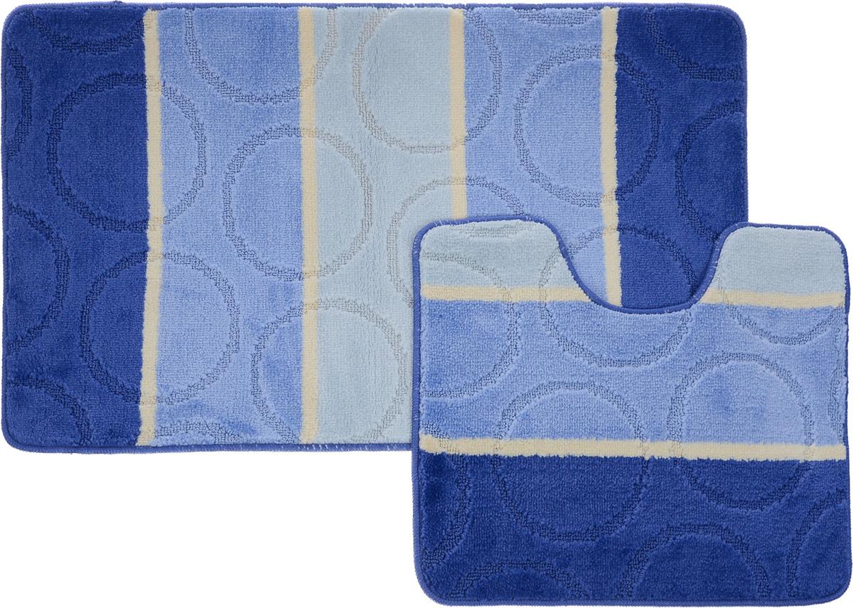 Набор ковриков для ванной Arya Multi 5006, цвет: синий, голубой, молочный, 2 штTR1000216Royal Синий, ГолубойНеобыкновенные коврики для ванной Arya Multi 5006 обладают эффектным дизайном, мягким и легким в уходе ворсом, нежным естественным оттенком, а также насыщенным цветом. Набор состоит из двух ковриков, выполненных из полиэстера. Верхняя часть из ворса 3 мм. Коврики украшены слегка выбитым рисунком на ворсе, который придаст еще большей элегантности дизайну ванной комнаты. Особенности изделий: С обратной стороны коврики имеют противоскользящее латексное покрытие. Края ковриков обработаны. Коврики не требовательны в уходе, если они чрезмерно не пачкаются и не загрязняются. В зависимости от интенсивности использования достаточно раз в месяц или в три месяца привести их в порядок. Коврики легко сворачиваются или складываются и помещаются в емкость для стирки. Данные коврики легко выдержат машинную стирку на бережном цикле при 30°С. Хорошо впитывают влагу, не пропускают ее на пол, быстро сохнут. Коврик - это необходимый предмет, без...
