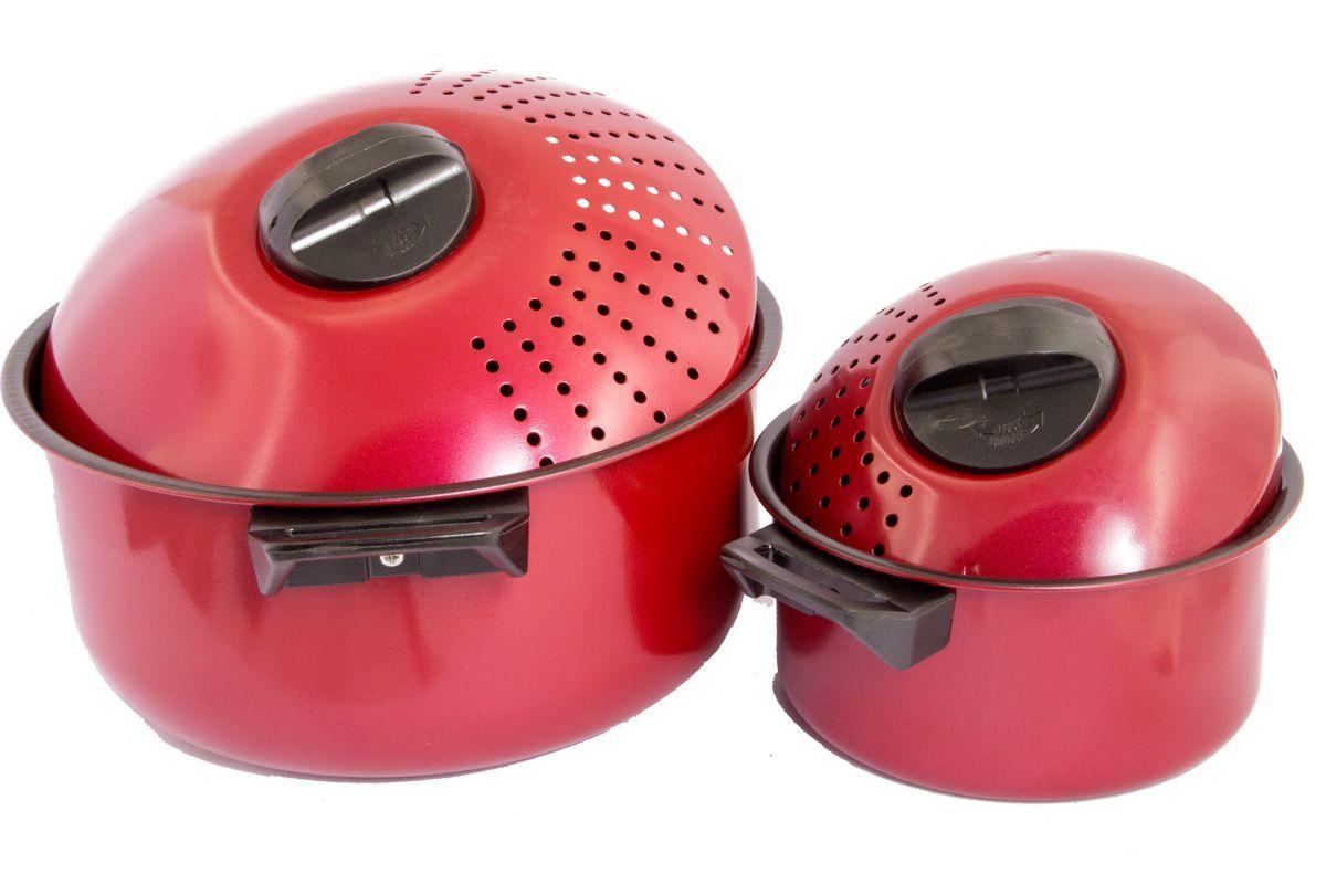 Набор кастрюль для спагетти Pomi d'Oro Vegetto Pasta Set77.858@23602 / Vegetto Pasta SetНабор для спагетти Vegetto Pasta Set. В набор входят 2 каcтрюли (на 1,5 и 4,5 л) и 2 крышки с отверстиями для слива жидкости. Кастрюли изготовлены из высокопрочной углеродистой стали 0,5 мм с антипригарным покрытием внутри. Подходят для использования на всех типах плит, кроме индукционных. Отверстия для слива жидкости в крышках помогут вам без лишних хлопот слить жидкость после варки макарон, картошки, овощей.