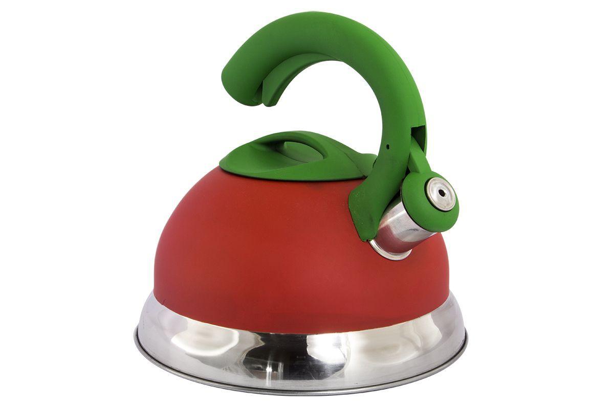 Чайник Pomi d'Oro Napoli, со свистком, 3 л77.858@24094 / R3012 NapoliЧайник неэлектрический со свистком Pomi dOro, модель R3011, коллекция Napoli. Нержавеющая сталь, толщина стенки 0,4 мм. Усиленное капсулированное дно - 2 мм, ненагревающаяся ручка с покрытием soft touch и курковым механизмом открывания для предотвращения ожогов. Объем 3 литра. Подходит для всех типов плит, кроме индукционных.