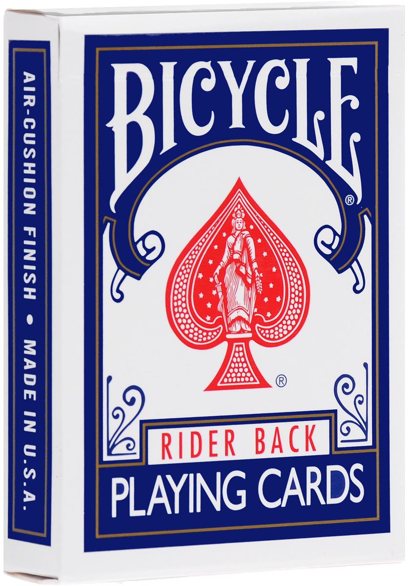 Карты для фокусов Bicycle Stripper Deck, конусная колода, цвет: синий, белый, 54 штК-398Карты для фокусов Bicycle Stripper Deck изготовлены из картона с пластиковым покрытием. Колода имеет классический покерный размер и дизайн, создана на основе колоды Bicycle Standard. Самая популярная колода в мире для исполнения трюков прямо перед вами - конусная колода. Благодаря этой колоде вы всегда сможете вытащить необходимую карту, как бы тщательно ее не перемешали. Не нужно никаких дополнительных карт или приспособлений, не нужно долго и нудно разучивать фокус, повторяя его раз за разом, не нужно иметь феноменальную память и соколиное зрение, все, что нужно для исполнения красочных фокусов это коническая колода Stripper Deck.