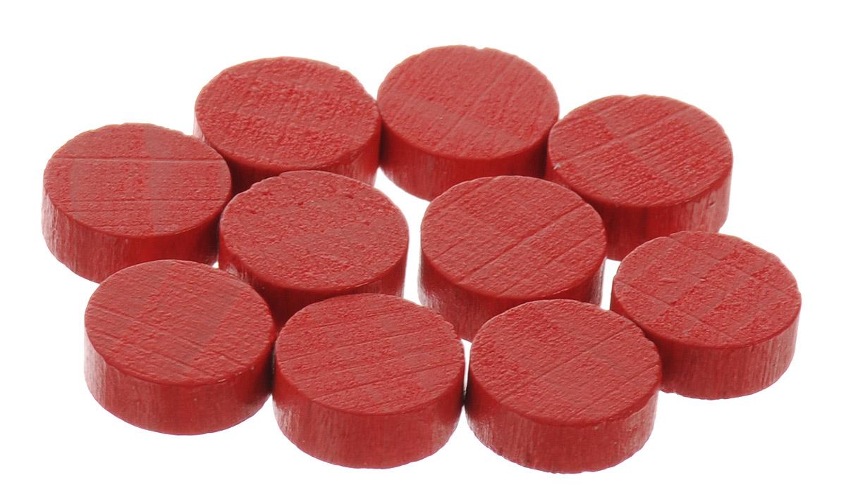 Pandoras Box Набор фишек Эко-стиль диаметр 10 мм цвет красный 10 шт06LZ020_красныйНабор фишек Эко-стиль предназначен для настольных игр. Фишки можно использовать для отметки уровня ресурсов жизни, победных очков при игре в настольные игры. В наборе представлены фишки красного цвета. Фишки выполнены из натурального дерева и покрыты краской. Набор содержит 10 фишек диаметром 1 см.
