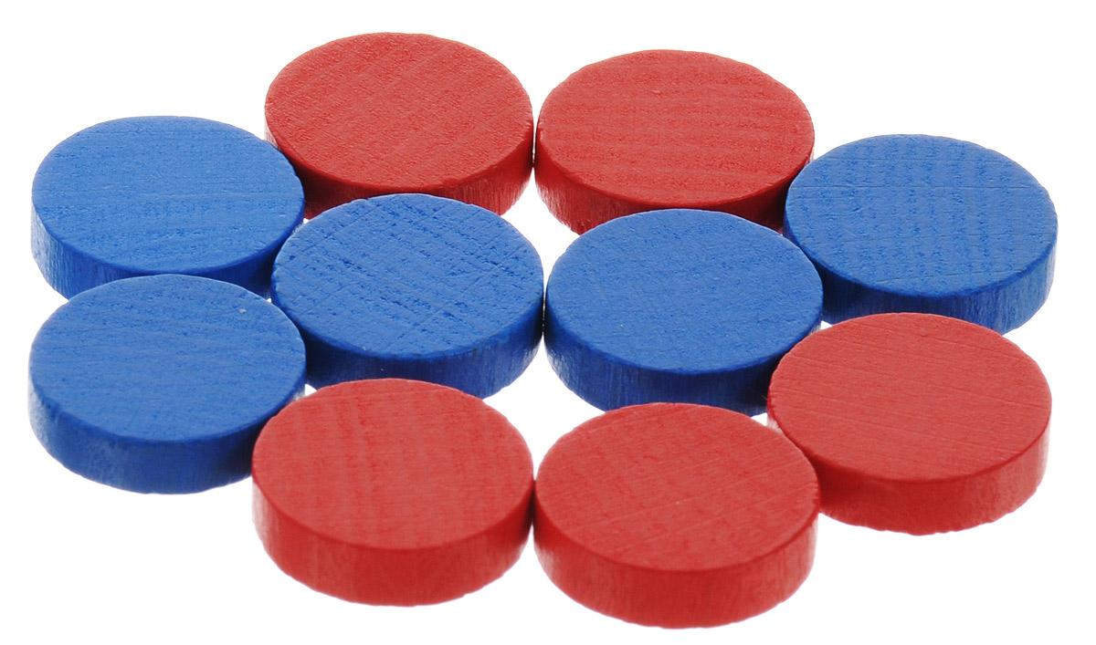 Pandoras Box Набор фишек Эко-стиль диаметр 10 мм цвет синий красный 10 шт06LZ020_синий, красныйНабор фишек Эко-стиль предназначен для настольных игр. Фишки можно использовать для отметки уровня ресурсов жизни, победных очков при игре в настольные игры. В наборе представлены фишки синего и красного цветов. Фишки выполнены из натурального дерева и покрыты краской. Набор содержит 10 фишек диаметром 1 см.