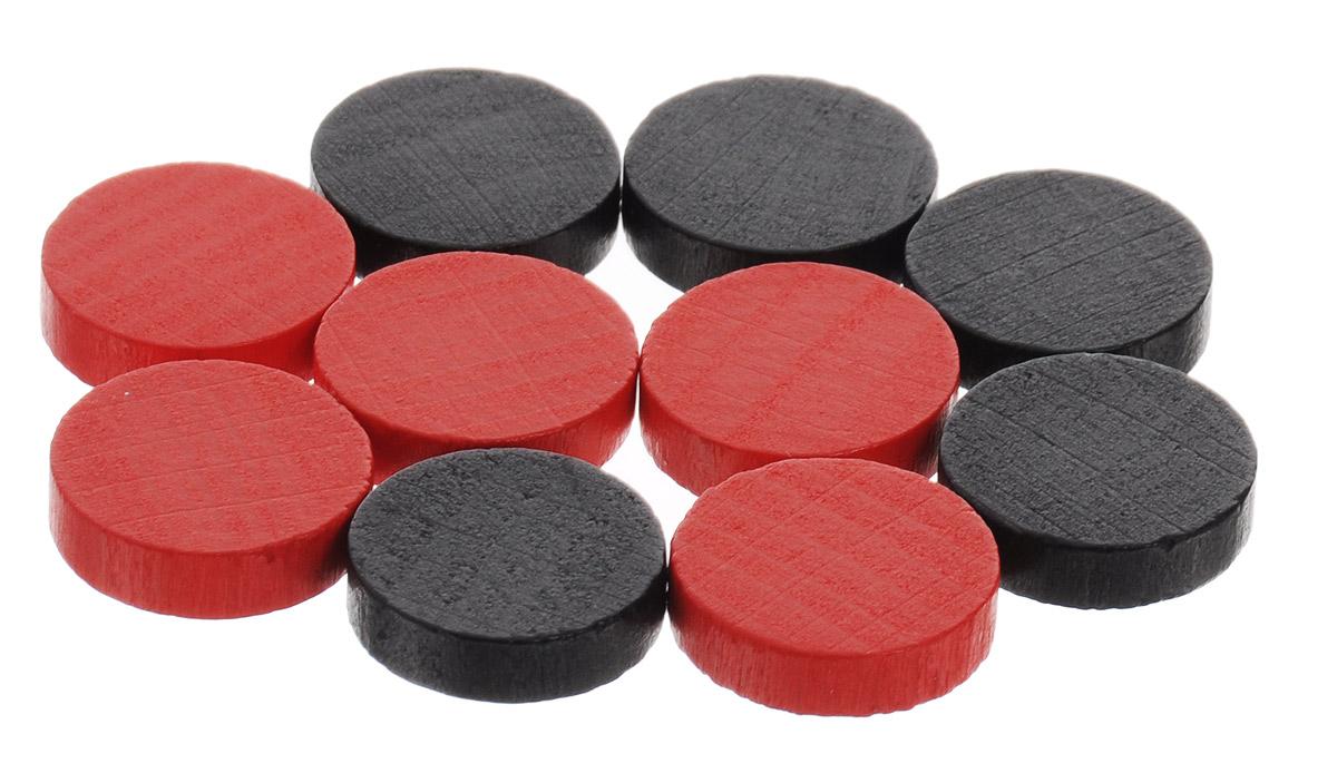 Pandoras Box Набор фишек Эко-стиль диаметр 15 мм цвет красный черный 10 шт06LZ021_черный, красныйНабор фишек Эко-стиль предназначен для настольных игр. Фишки можно использовать для отметки уровня ресурсов жизни, победных очков при игре в настольные игры. В наборе представлены фишки красного и черного цветов. Фишки выполнены из натурального дерева и покрыты краской. Набор содержит 10 фишек диаметром 1,5 см.