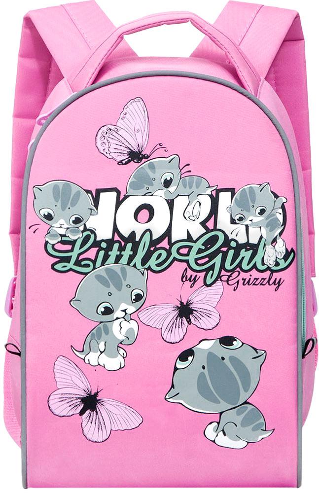 Grizzly Рюкзак дошкольный Little Girls цвет розовый