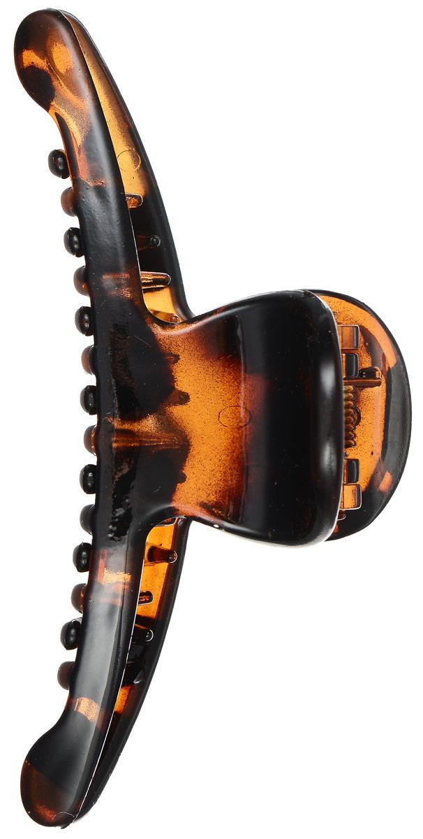 Заколка-краб Mitya Veselkov, цвет: коричневый. KRAB2-G2BROKRAB2-G2BROОригинальная заколка-краб Mitya Veselkov изготовлена из качественного пластика. Заколка представлена в коричневом цвете. Удобный зажим заколки надежно фиксирует волосы и не травмирует их. С помощью заколки-краба можно создавать различные прически для неповторимого образа. Оригинальность и удобство заколки-краба для волос делают ее практичным и модным аксессуаром.