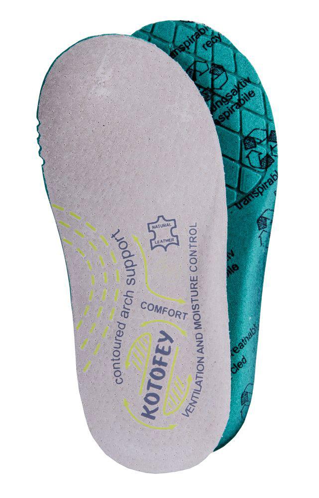 Стельки детские Котофей, цвет: светло-бежевый. TSK0001-02. Размер 41TSK0001-02Вкладные детские стельки от Котофей обеспечат комфорт ногам вашего ребенка и улучшат гигиенические свойства обуви. Высококачественный верхний слой стелек из натуральной кожи великолепно проводит влагу. Нижний слой из мягкого вспененного материала обеспечивает максимальное впитывание, быстро сохнет и препятствует размножению бактерий. Стельки имеют анатомическое ложе, которое способствует фиксации пяточной части стопы в вертикальном положении и уменьшает нагрузку на связки и суставы.