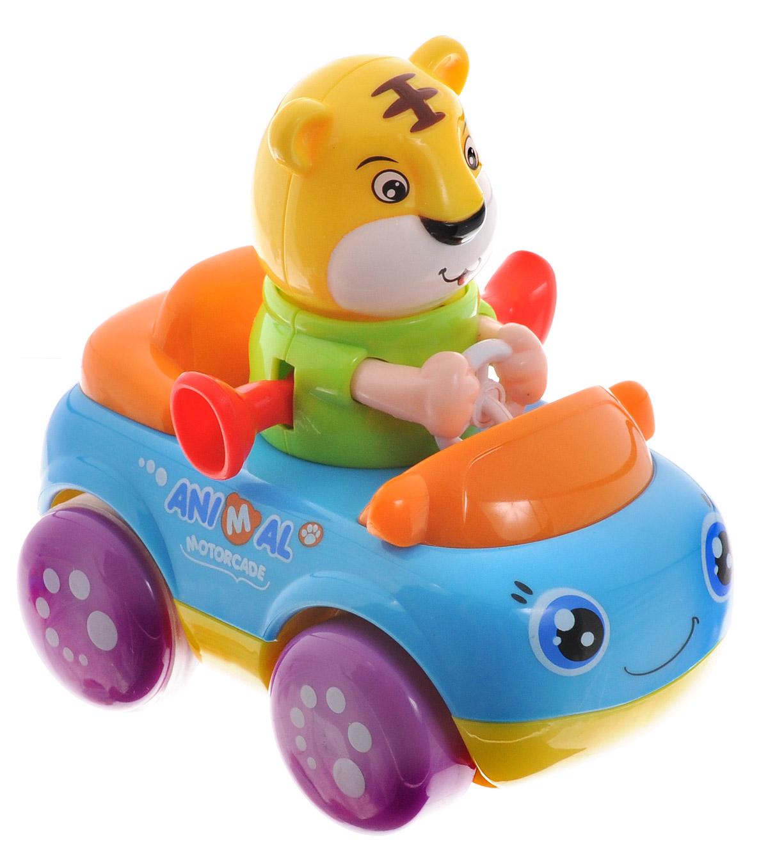 Huile Toys Машинка инерционная Тигренок356В_тигренокЯркая инерционная машинка Huile Toys Тигренок привлечет внимание вашего малыша и не позволит ему скучать! Выполненная из безопасного пластика с элементами из металла, игрушка представляет собой забавную машинку с водителем в виде забавного тигра. Округлые, без острых углов, формы гарантируют безопасность даже самым маленьким. Игрушка оснащена инерционным механизмом. Для запуска установите игрушку на ровную поверхность, подтолкните вперед и отпустите, игрушка продолжит движение. Во время движения фигурка забавно качает головой и ножками. Игрушка поможет ребенку в развитии воображения, мелкой моторики рук и цветового восприятия.