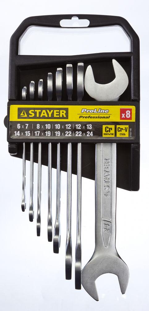 Набор рожковых гаечных ключей Stayer