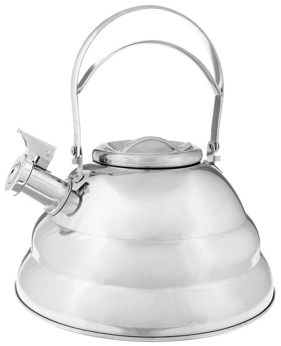 Чайник Mayer & Boch, со свистком, 3,2 л. 2417224172Чайник Mayer & Boch выполнен из долговечной и прочной нержавеющей стали, что делает его весьма гигиеничным и устойчивым к износу при длительном использовании. Гладкая и ровная поверхность существенно облегчает уход за посудой. Выполненный из качественных материалов чайник при кипячении сохраняет все полезные свойства воды. Изделие оснащено свистком, благодаря которому вы можете не беспокоиться о том, что закипевшая вода зальет плиту. Как только вода закипит - свисток оповестит вас об этом. Удобный и практичный чайник отлично впишется в интерьер любой кухни. Подходит для всех типов плит, включая индукционные. Можно мыть в посудомоечной машине. . Высота чайника (без учета ручки и крышки): 13 см. Высота чайника (с учетом ручки и крышки): 24см. Диаметр основания: 24 см. Диаметр (по верхнему краю): 10 см.