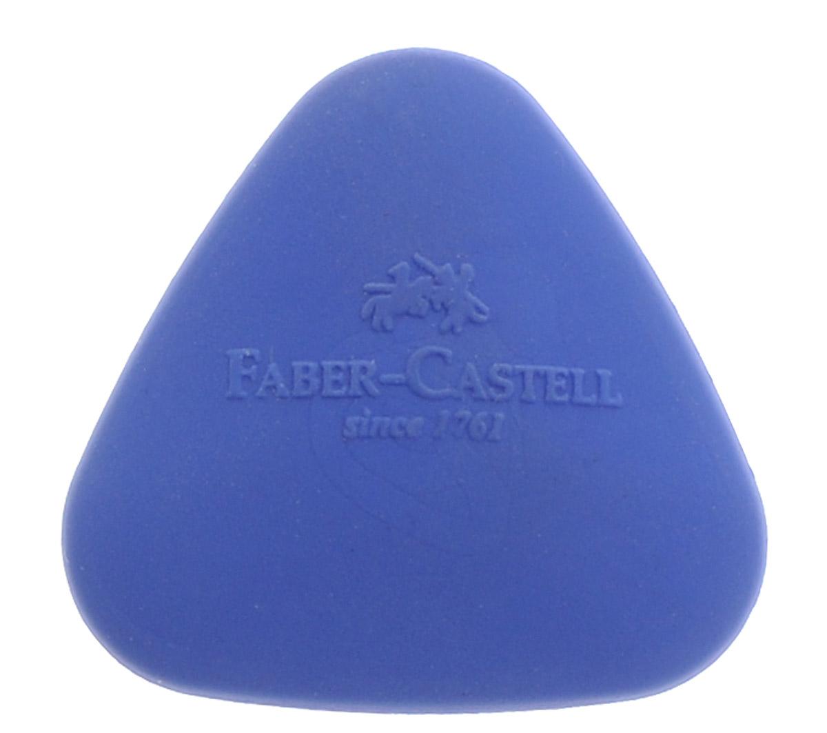 Faber-Castell Ластик формованный треугольный цвет синий589024_синийЛастик Faber-Castell - незаменимый аксессуар на рабочем столе не только школьника или студента, но и офисного работника. Он легко и без следа удаляет надписи, сделанные карандашом. Ластик имеет форму треугольника и его очень удобно держать в руке.
