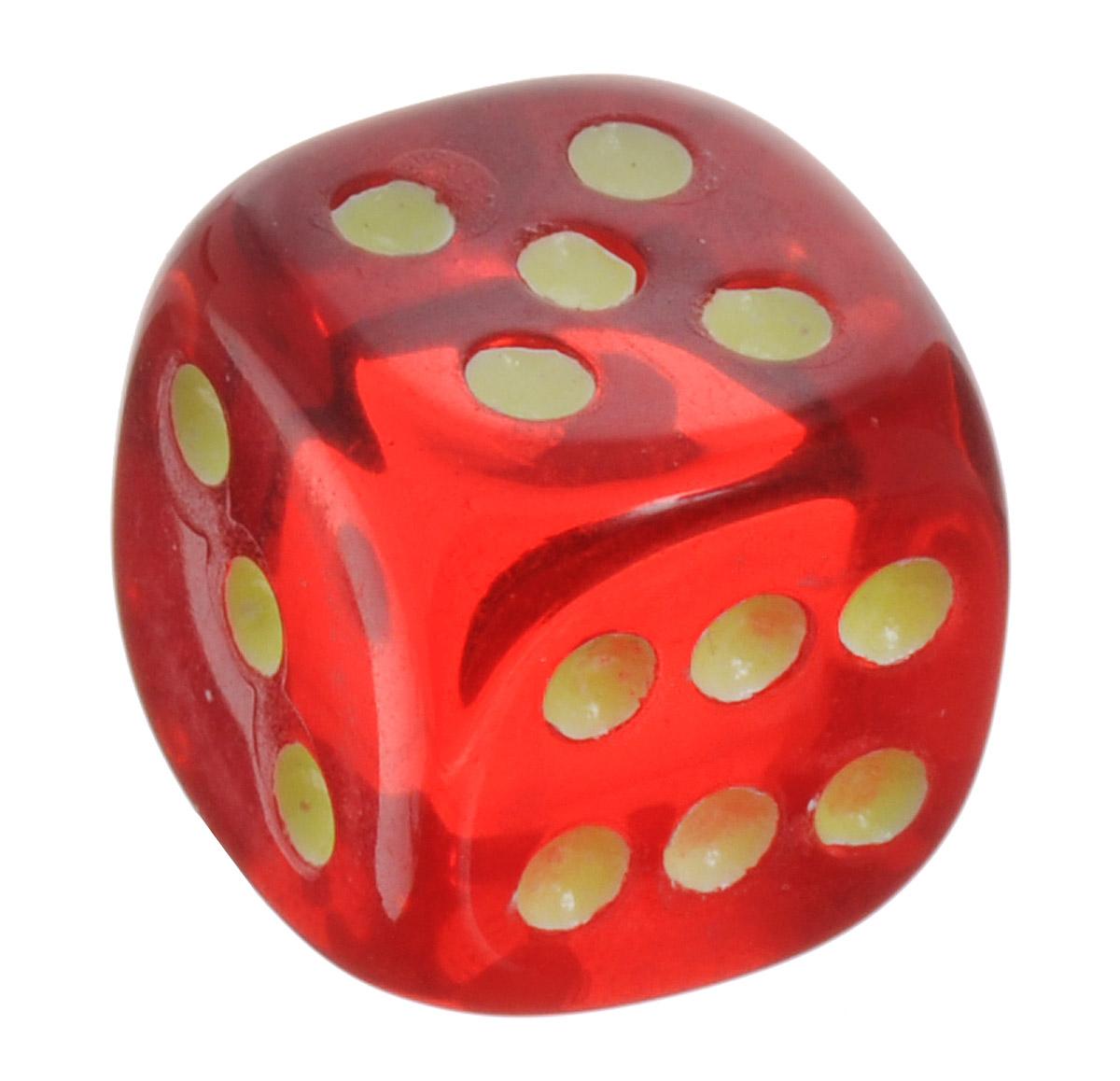 Koplow Games Кость игральная D6 Свет цвет красный5163_красныйИгральная кость Koplow Games Свет предназначена для настольных игр. Игральная кость представляет собой кубик из прозрачного красного пластика, на каждую грань которого нанесены точки от 1 до 6. Целью кубика является демонстрация случайно определенного целого числа от одного до шести, каждое из которых является равновозможным благодаря правильной геометрической форме. Не рекомендуется детям до трех лет.