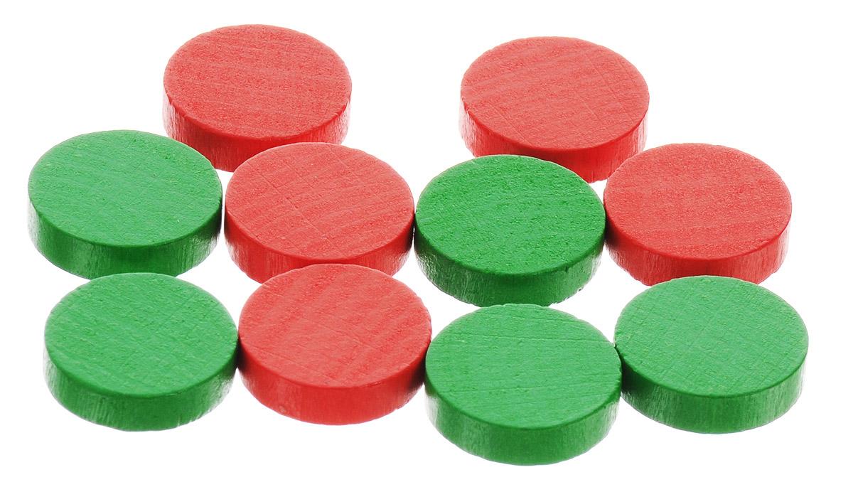 Pandoras Box Набор фишек Эко-стиль диаметр 15 мм цвет красный зеленый 10 шт06LZ021_зеленый, красныйНабор фишек Pandoras Box Эко-стиль предназначен для настольных игр. Фишки можно использовать для отметки уровня ресурсов жизни, победных очков при игре в настольные игры. В набор входят фишки красного и зеленого цветов. Фишки выполнены из натурального дерева и покрыты яркой краской. Набор содержит 10 фишек диаметром 1,5 см.