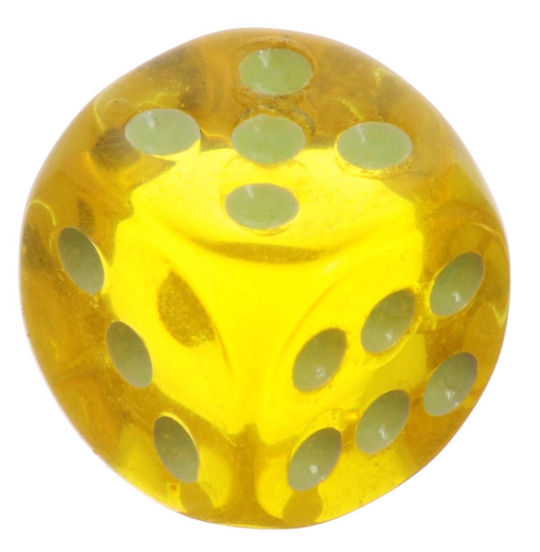 Koplow Games Кость игральная D6 Свет цвет желтый5163_желтыйИгральная кость Koplow Games Свет предназначена для настольных игр. Игральная кость представляет собой кубик из прозрачного пластика, на каждую грань которого нанесены точки от 1 до 6. Целью кубика является демонстрация случайно определенного целого числа от одного до шести, каждое из которых является равновозможным благодаря правильной геометрической форме. Не рекомендуется детям до трех лет.
