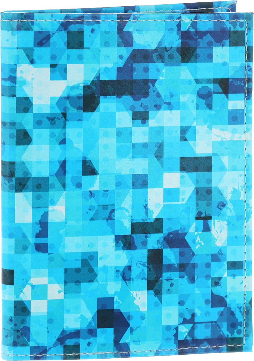 Обложка для паспорта Driver, цвет: голубой. ВДОПК9ВДОПК9Обложка для паспорта Driver изготовлена из 100% натуральной кожи высокого качества и имеет эксклюзивный яркий дизайн. Рисунок нанесен эко-красителем и гипоаллергенен. Документ надежно фиксируются внутри при помощи двух прозрачных клапанов, расположенных на внутреннем развороте обложки. Также внутри находятся два клапана для SIM-карт и один клапан для банковской карты. Обложка оформлена геометрическим узором. br> Оригинальные обложки для паспорта - это прекрасный способ поднять настроение не только себе, но и окружающим людям. Забавные рисунки и весёлые надписи непременно вызовут улыбку у каждого, кто увидит ваши документы. Также это прекрасный способ сделать оригинальный подарок, подобрав обложку, которая идеально подходит тому или иному человеку. Для тех, кто любит все необычное и болеет творчеством, креативом и позитивом!