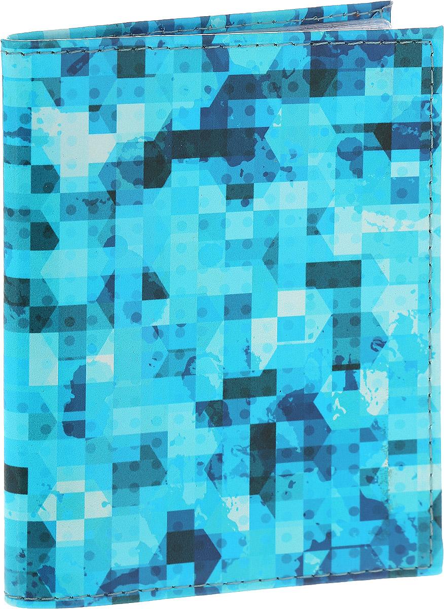 Обложка для автодокументов Driver, цвет: голубой. ВДАОК10ВДАОК10Обложка для автодокументов Driver выполнена из 100% натуральной кожи, высокого качества и имеет эксклюзивный яркий дизайн. Рисунок нанесен эко красителем и гипоаллергенен. Документы надежно фиксируются внутри при помощи двух прозрачных клапанов, внутренний блок состоит шести файлов из гибкого пластика, один из которых имеет формат А5. Также внутри находятся два клапана для SIM-карт и один клапан для банковской карты. Обложка оформлена геометрическим узором. Необычные обложки для автодокументов - это прекрасный способ поднять настроение не только себе, но и окружающим людям. Забавные рисунки и весёлые надписи непременно вызовут улыбку у каждого, кто увидит ваши документы. Также это прекрасный способ сделать оригинальный подарок, подобрав обложку, которая идеально подходит тому или иному человеку.