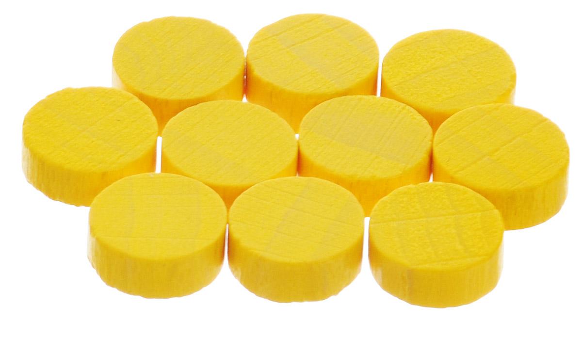 Pandoras Box Набор фишек Эко-стиль диаметр 10 мм цвет желтый 10 шт06LZ020_желтыйНабор фишек Pandoras Box Эко-стиль предназначен для настольных игр. Фишки можно использовать для отметки уровня ресурсов жизни, победных очков при игре в настольные игры. В набор входят фишки желтого цвета. Фишки выполнены из натурального дерева и покрыты яркой краской. Набор содержит 10 фишек диаметром 1 см.