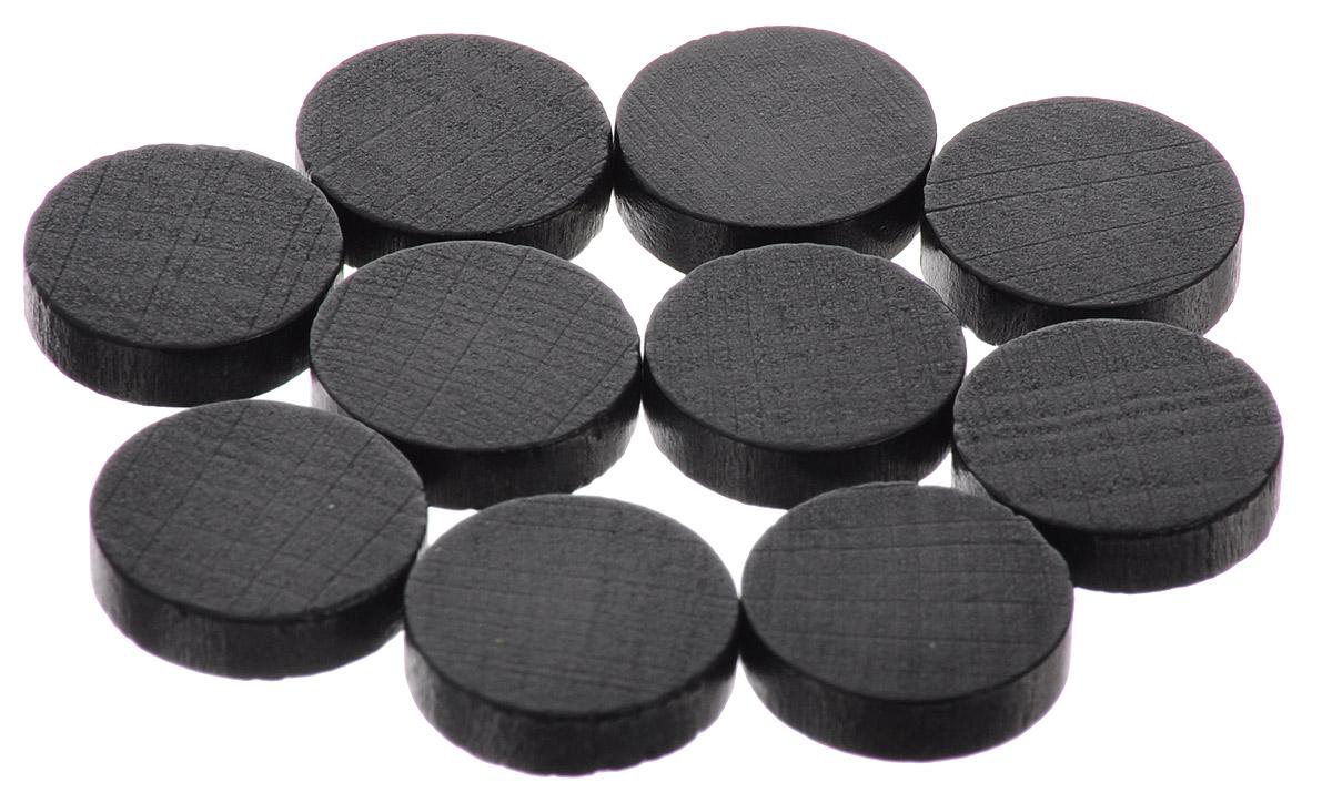 Pandoras Box Набор фишек Эко-стиль диаметр 15 мм цвет черный 10 шт06LZ021_черныйНабор фишек Эко-стиль предназначен для настольных игр. Фишки можно использовать для отметки уровня ресурсов жизни, победных очков при игре в настольные игры. В наборе представлены фишки черного цвета. Фишки выполнены из натурального дерева и покрыты краской. Набор содержит 10 фишек диаметром 1,5 см.