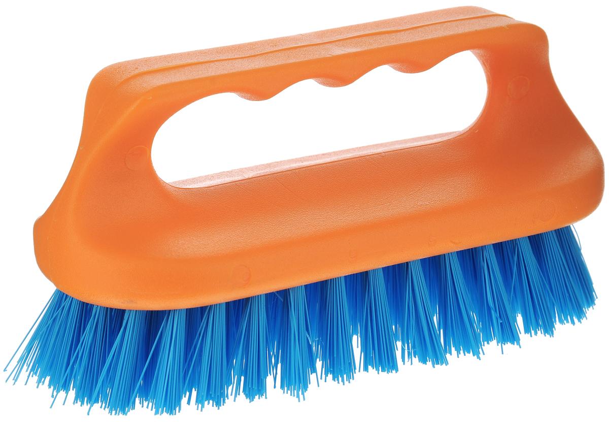 Щетка для ванны Хозяюшка Мила Сальвия, цвет: оранжевый, синий24006-96_оранжевый, синийЩетка для ванны Хозяюшка Мила Сальвия, изготовленная из высокопрочного пластика, идеально подходит для снятия сильных загрязнений. Удобная ручка делает процесс чистки комфортным, а форма щетки позволяет хорошо чистить даже труднодоступные места. Щетина средней жесткости не повреждает поверхность. Длина щетины: 2,5 см.