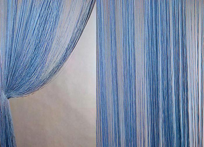 Штора нитяная Magnolia Кисея, цвет: синий, высота 300 см. XLF DS 1154642Декоративная нитяная штора для дизайнерских решений в вашем доме. Подходит как для зонирования пространства, а так же декорации окна, как самостоятельное решение или дополнение к шторам.