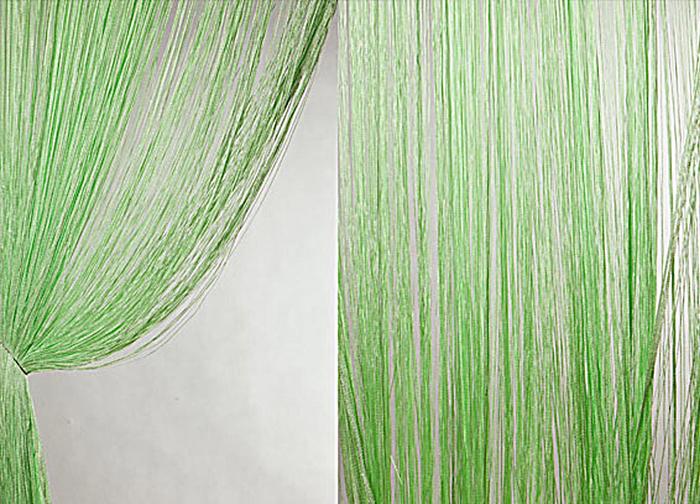 Штора нитяная Magnolia Кисея, цвет: зеленый, высота 300 см. XLF DS 1554643Декоративная нитяная штора для дизайнерских решений в вашем доме. Подходит как для зонирования пространства, а так же декорации окна, как самостоятельное решение или дополнение к шторам.