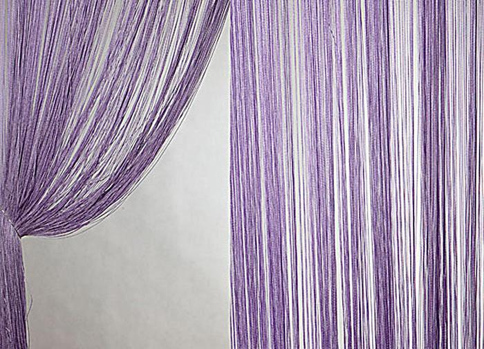 Штора нитяная Magnolia Кисея, цвет: сиреневый, высота 300 см. XLF DS 1254646Декоративная нитяная штора для дизайнерских решений в вашем доме. Подходит как для зонирования пространства, а так же декорации окна, как самостоятельное решение или дополнение к шторам.