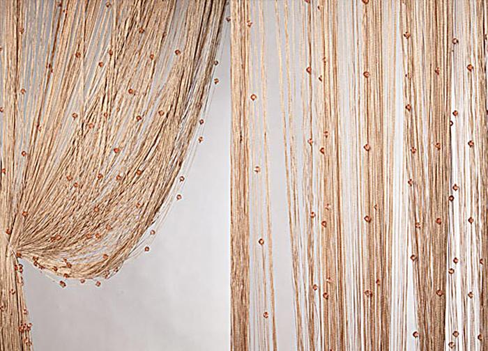 Штора нитяная Magnolia Кисея, цвет: светло-коричневый, высота 300 см. XLF SJ 1454680Декоративная нитяная штора для дизайнерских решений в вашем доме. Подходит как для зонирования пространства, а так же декорации окна, как самостоятельное решение или дополнение к шторам.