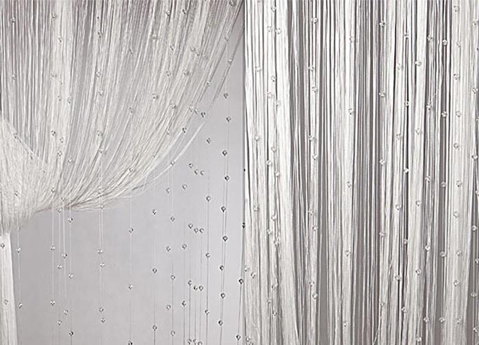 Штора нитяная Magnolia Кисея, цвет: белый, высота 300 см. XLF SJ 0154681Декоративная нитяная штора для дизайнерских решений в вашем доме. Подходит как для зонирования пространства, а так же декорации окна, как самостоятельное решение или дополнение к шторам.